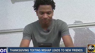 Thanksgiving texting mishap leads to new friends - Video
