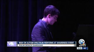 Jazz pianist on autism spectrum performs in Palm Beach Gardens - Video