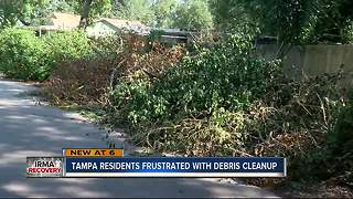 Tampa residents frustrated with debris cleanup