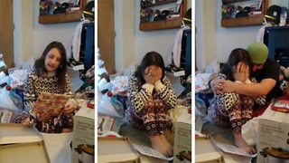 Heart wrenching moment 11 year old girl bursts into tears after surprise adoption - Video
