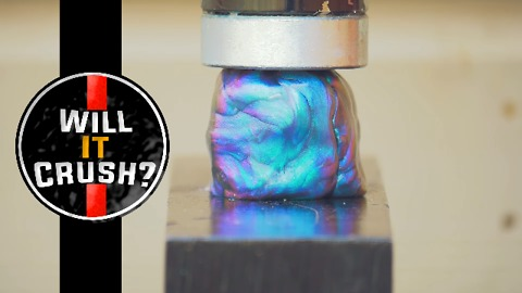 Hydraulic Press - Oobleck Putty - Will It Crush?