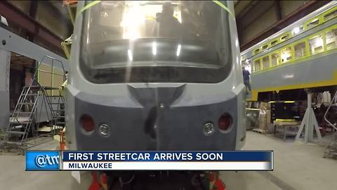First Milwaukee streetcar vehicle will be delivered this month