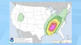 Southern States Prepare For Severe Storm