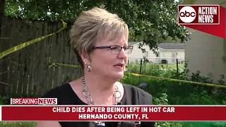9-month-old dies after being left in hot car, presser