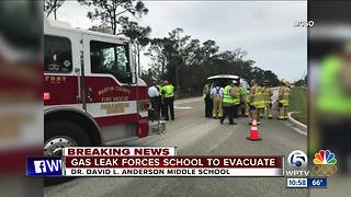 Gas leaks evacuates Anderson Middle School in Martin County - Video