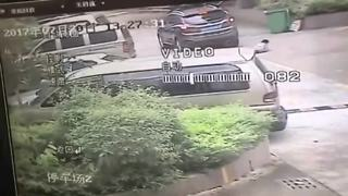 Eight-year-old boy survives being run over by car - Video