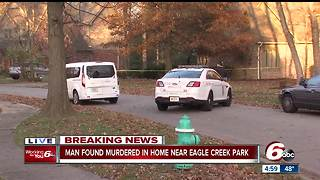Man found murdered in home near Eagle Creek Park in Indianapolis - Video