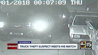 Man catches thief stealing truck from Valley driveway - Video