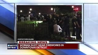 Detroit fireworks shooting - Video