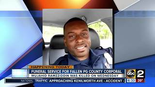 Funeral arrangements announced for officer killed in Prince George's County