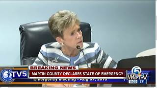 Martin County declares state of emergency because of algae - Video