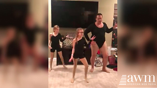 Dad Sends Internet Into A Fit Of Laughter When He Joins Daughter's Dance Routine - Video