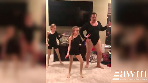 Dad Sends Internet Into A Fit Of Laughter When He Joins Daughter's Dance Routine