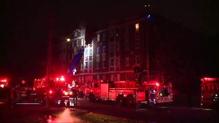 Families displaced after apartment fire on Detroit's west side - Video