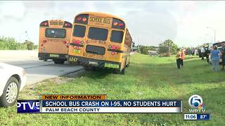 Bak Middle School bus involved on crash on I-95