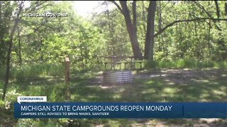 Michigan campgrounds set to reopen Monday