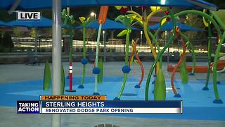 Dodge Park reopening in Sterling Heights - Video