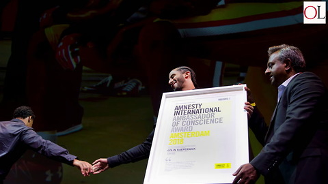 Colin Kaepernick Given Amnesty International's Highest Award