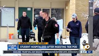 Student hospitalized after ingesting Tide Pod - Video