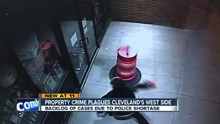 Backlog of property crime cases due to Cleveland Police shortage - Video