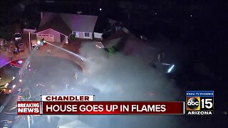 Chandler home goes up in flames