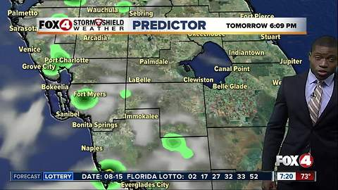 Hot and humid, afternoon storms possible