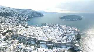 Drone Captures Snowbound Dubrovnik, aka Game of Thrones' King's Landing - Video