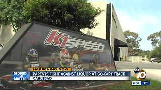 Parents fight against liquor at go-kart track - Video