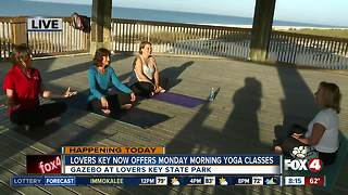 Lovers Key now offers Monday morning yoga classes - 8am live report