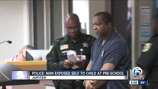 Man accused of exposing himself to a child at a pre-school - Video