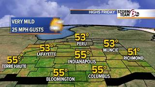 Very mild Friday. Dry weekend. - Video