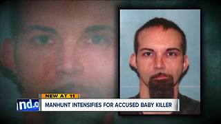 Manhunt intensifies for accused baby killer - Video