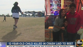 12-year-old laid to rest after violent crash - Video