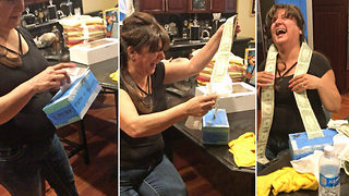 Adorable moment tears turn to money for mum in awesome birthday surprise - Video