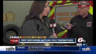 Cold temperatures impacting first responders - Video