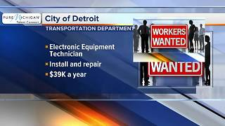 Workers Wanted: City of Detroit, transportation department - Video