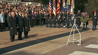 WATCH: Pence Lays Wreath at Tomb of Unknown Soldier in Arlington National Cemetery - Video