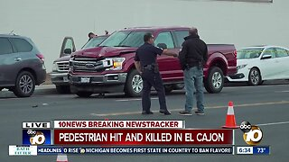 Pedestrian struck by truck, killed in El Cajon