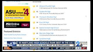 55 Maryland high schools rank best in U.S. - Video
