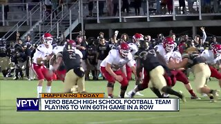 Vero Beach High School football team seeks 60th straight regular season win