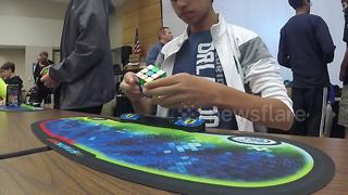 15-year-old smashes world record for solving Rubik's Cube - Video