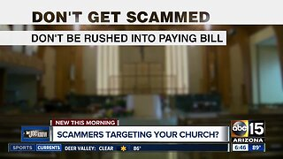 Are scammers targeting your church?