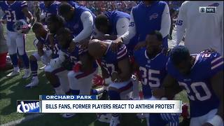 Bills fan leaves game after National Anthem protests - Video