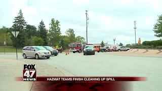 UPDATE: Hydraulic oil spill closes down road