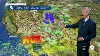 Increasing rain chances deliver slightly cooler temperatures