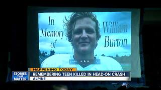 Remebering Alpine teen killed in head-on crash - Video