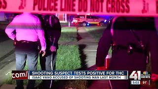 Shooting suspect tests positive for marijuana drug - Video