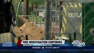 Construction site fire investigation continues