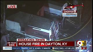 Firefighters say a man drags neighbor out of burning house in Dayton, Ky. - Video
