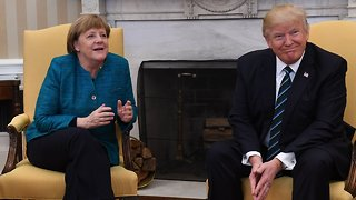 Trump Welcomes Merkel To The White House Again - Video